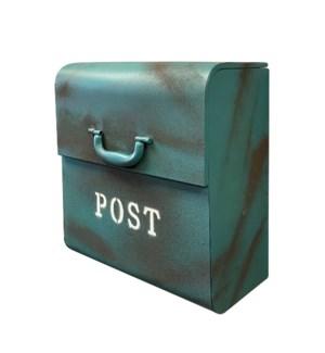 CJ Mailbox, Rustic Blue, 12.6x6.9x14.2inch