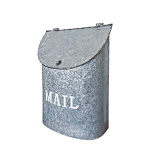 Rothko MAIL Mailbox Rustic Metal. Lid access. 10x4x14inches.