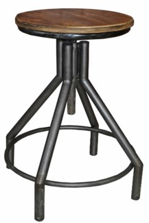 Marc Industrial Short Stool, 14.5x14.5x17.7