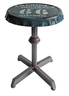 Zell Industrial Bottle Cap Stool, 17x17x17.9