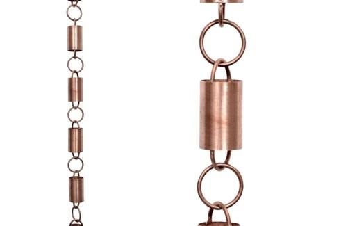 Cylinder Loop Rain Chain,  8 ft(96 In.)