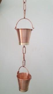 Bucket Rain Chain, Pure Copper,  8 ft(96 In.)