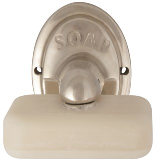 Magnetic Soap Holder in Silver - (2.9x3.6x4.1 inches)