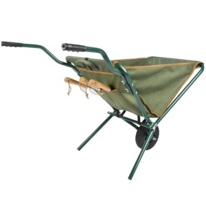 Foldable wheel barrow