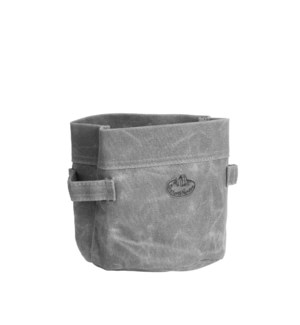 Waxed canvas container S