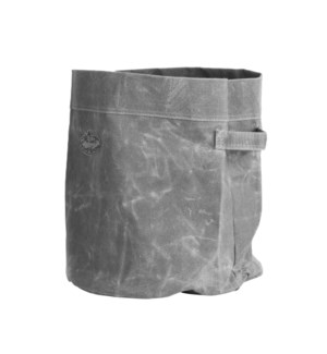 Waxed canvas container L