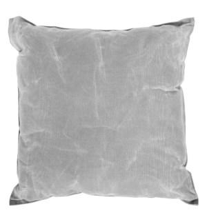 Waxed canvas cushion