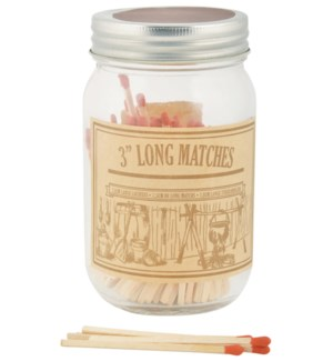Matches in jar