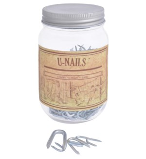 U-nails in jar