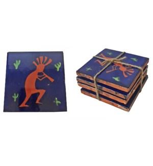 Coaster/Tiles Kokopelli Set/4