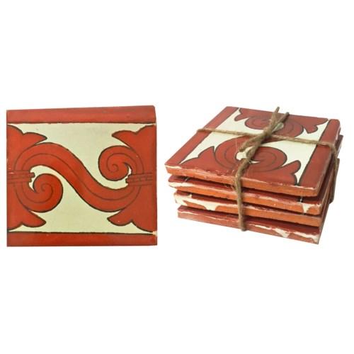 Coaster/Tiles Scroll  Set/4