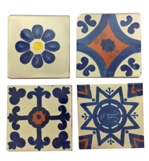 Coaster/Tiles Rust Blue Set/4