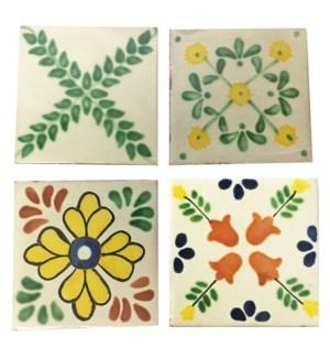 Coaster/Tiles Green Vines Set/4