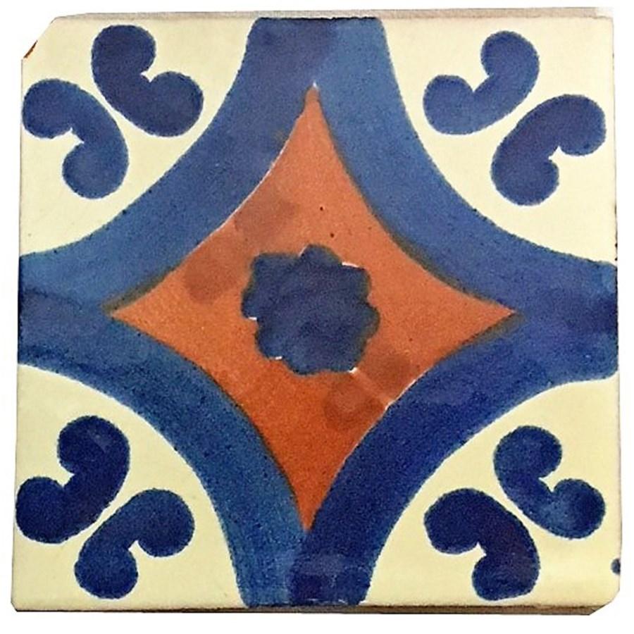 Coaster/Tiles Blue/Rust Set/4