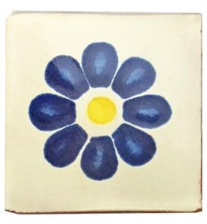Coaster/Tiles Blue Flower Set/4