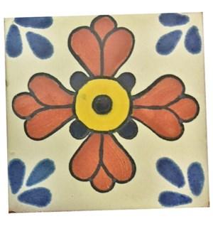 Coaster/Tiles Rust Flower1 Set/4