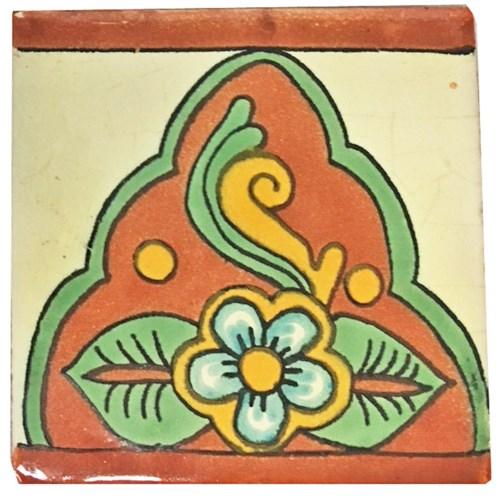 Coaster/Tiles Rust Flower Set/4