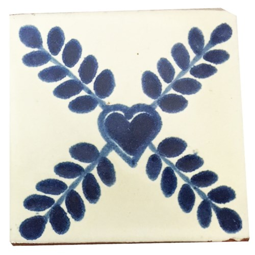 Coaster/Tiles Blue Heart Set/4