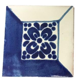 Coaster/Tiles Blue Square Set/4