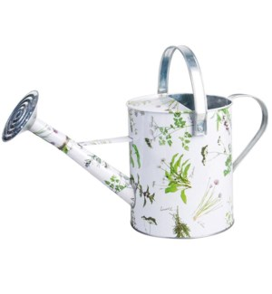 Herb print watering can. Zinc. 46,0x21,2x22,6cm. oq/8,mc/8 Pg.92, 134