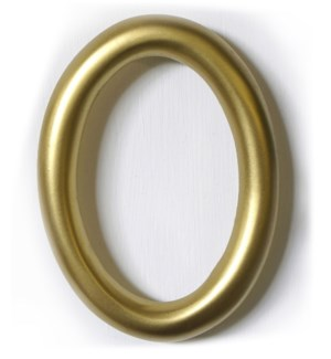 """""""Aluminum Round Shadow Number 0, Antique Gold, 5 inch"""""""