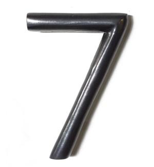 """Aluminum Round Shadow Number 7, Gun Metal, 5 inch"""