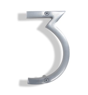 """""""Silver House Number, 3"""""""