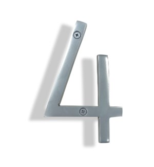 """""""Silver House Number, 4"""""""