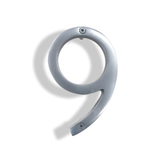 """""""Silver House Number, 9"""""""