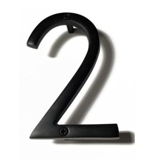 """""""Black Aluminum Number 2, 8 inch"""""""