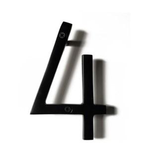 """""""Black Aluminum Number 4, 8 inch"""""""