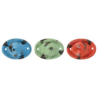 Doorknob oval 3 colours ass. - (3.3x1.7x2.4 inches)