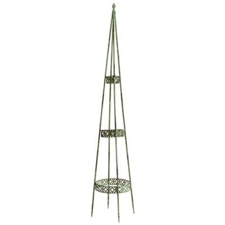 IH Obelisk set of 3. Metal. 20,0x20,0x122,0/24,0x24,0x143,0/28,0x28,0x168,0cm. oq/3,mc/1 Pg.106