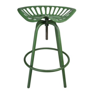Tractor chair JD green. Cast iron, steel. 50,0x46,5x69,7cm. On Sale 30 percent off