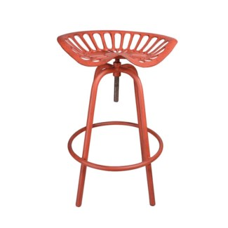 Tractor chair MF red. Cast iron, steel. 50,0x46,5x69,7cm. On Sale 30 percent off