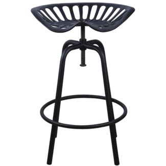 Tractor chair black. Cast iron, steel. 50,0x46,5x69,7cm.