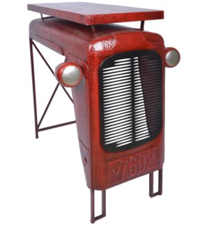 Tractor table red. Metal. 100,0x67,0x104,0cm.