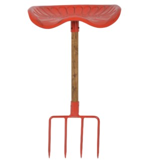 Fork Tractor Chair Red