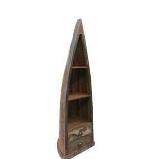 Boat Shelf Recycled Wood 2 Shelves