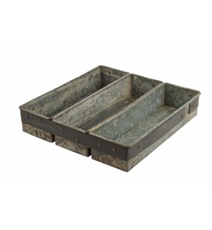 Vintage Iron Triple Tray