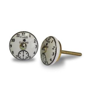 """CN005 Knob, ceramic, Vintage Clock"""