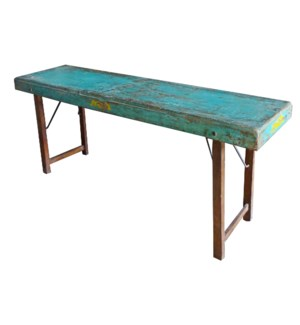 """Vintage Slim Folding Table, L"""