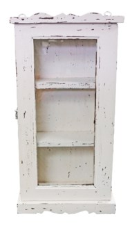 Vintage Wall Showcase, White 16x6x28 inches