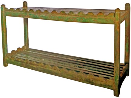 Vintage Console Table, Green 51x16x30 inches