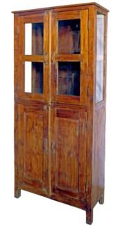 Vintage Four Pane Almirah,India, 33.9x15.7x74 inches