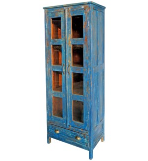 Vintage Tall 8 Pane Cabinet BL