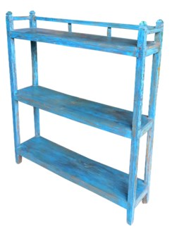 Vintage 3 Shelves Rack, Blue, 41.7x9.84x48.8 Inches