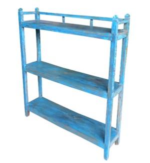 """Vintage 3 Shelves Rack, Blue, 41.7x9.84x48.8 Inches"""