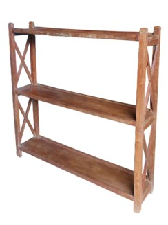IT-DG-105 Vintage 3 Shelves Rack, Brown, 53.1x11x53.1 Inches