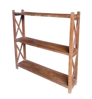 """Vintage 3 Shelves Rack, Brown"""